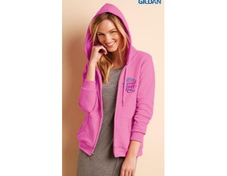Ladies Full Zip Hood Sweat 9